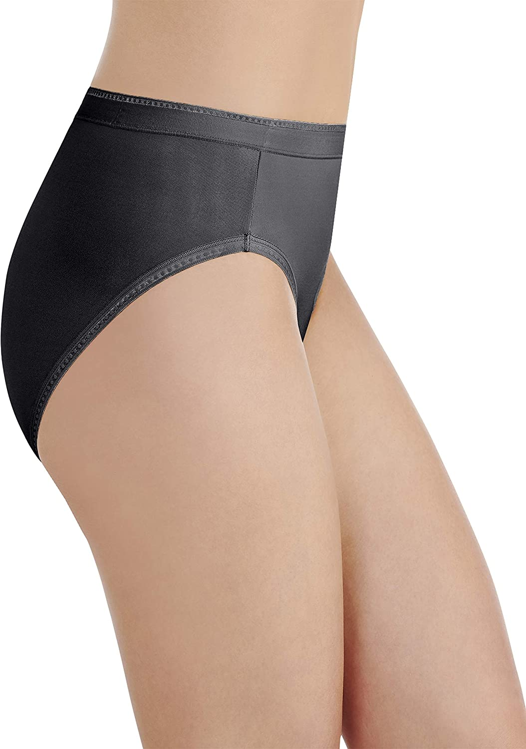 Vanity Fair Womens Comfort Where It Counts Hi Cut Panty 13164