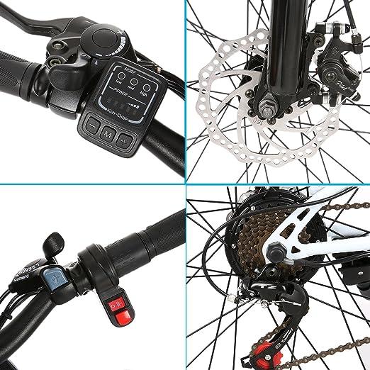 aimado bicicleta eléctrica montaña plegable 26 pulgadas bicicleta de montaña todo suspendida Lithium-Ion batería 36 V Velocidad de hasta 25 km/h (EU Stock), ...