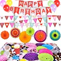 Fun Little Toys 73Pcs Birthday Decorations Party Supplies Set