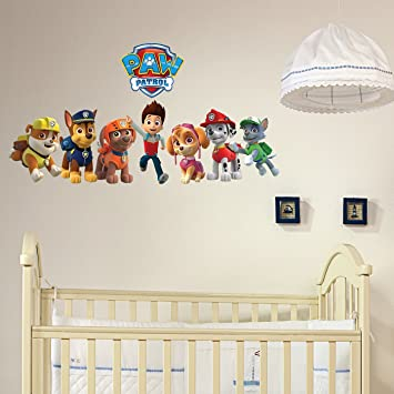 greatdealsandgifts Paw Patrol Rubble wall Crack Kids Boys Girls Bedroom Vinyl Decal Wall Sticker Gift Xmas