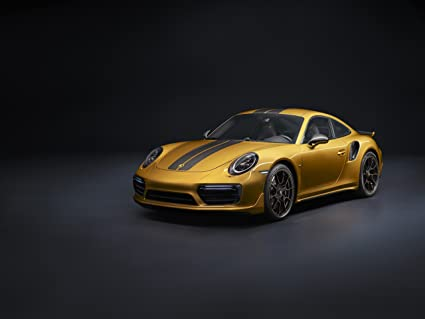 "Porsche 911 Turbo S ""Exclusive Series"" (2017) Car Print on 10"