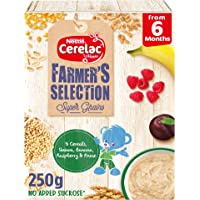 Nestle CERELAC Farmer's Selection 5 Cereals, Quinoa, Banana, Raspberry Infant Cereal Prune from 6 months 250g