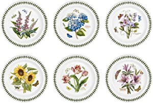 Portmeirion Botanic Garden Set of 6 Dinner Plates - Assorted Motifs