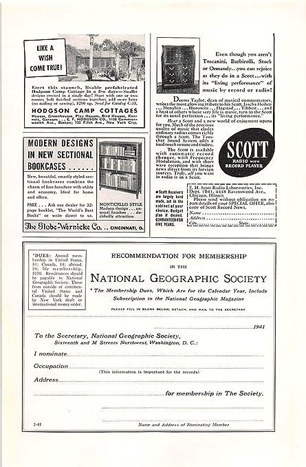 Amazon.com: Impresión ad 1941 Globe Wernicke diseños ...