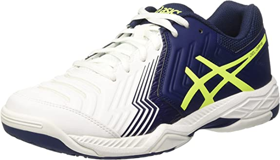 Asics Gel-Game 6 Blanco Azul y Amarillo
