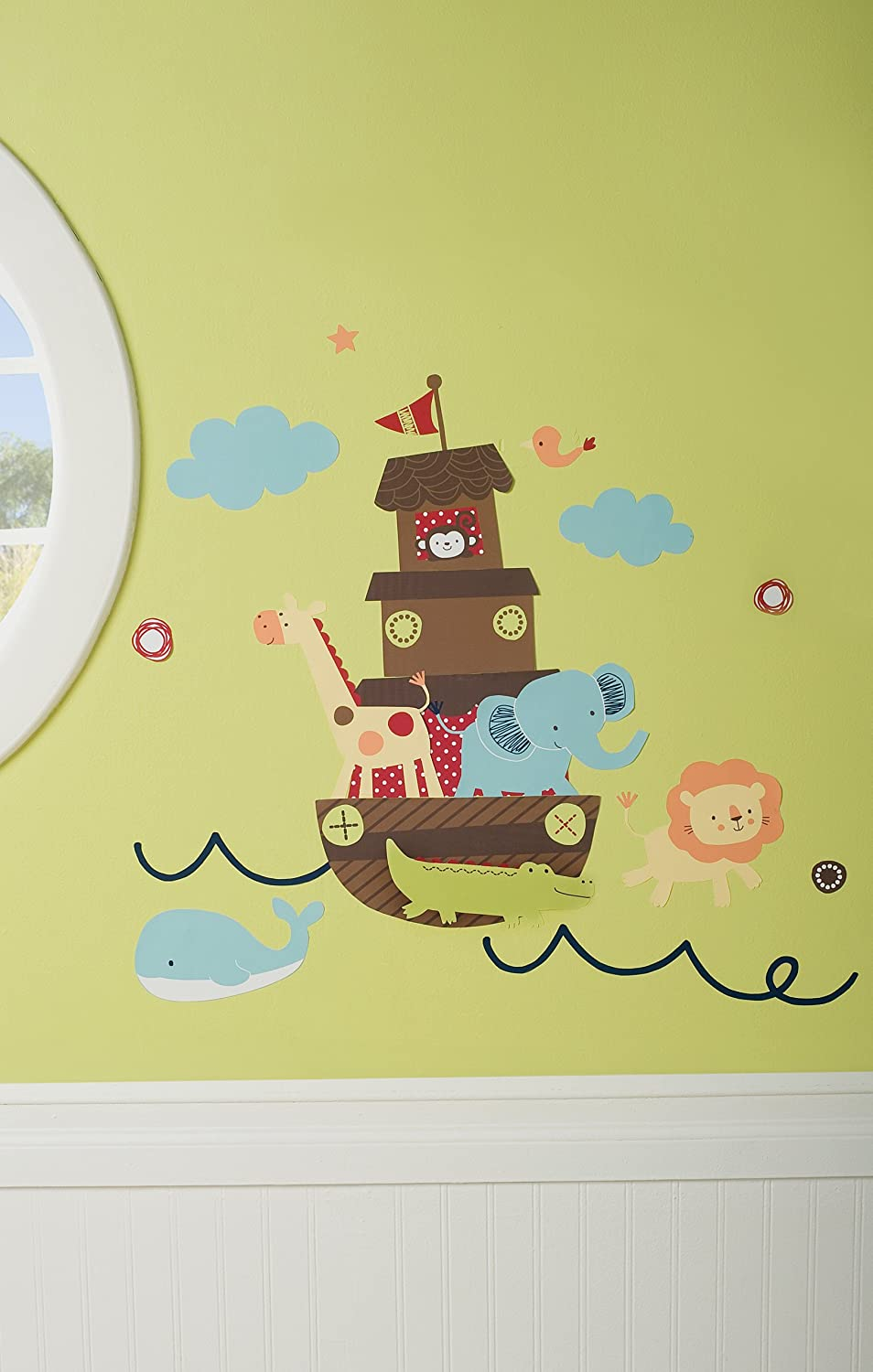 Amazon.com : Kidsline Ark Animals Wall Decals (Discontinued by ...