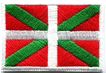 Amazon.com: flag of ikurrina basque spain spanish ensign embroidered