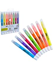 Mr. Pen- Dry Highlighter, Gel Highlighter (Pack of 8), Bible Highlighter, No Bleed Highlighter, Highlighters Assorted Colors, Bible Safe Highlighter, Bible Journaling Supplies, Bible Markers for Tabs
