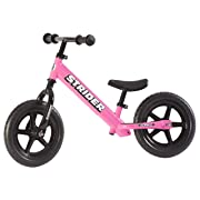 Strider - 12 Classic No-Pedal Balance Bike, Ages 18 Months to 3 Years, Pink