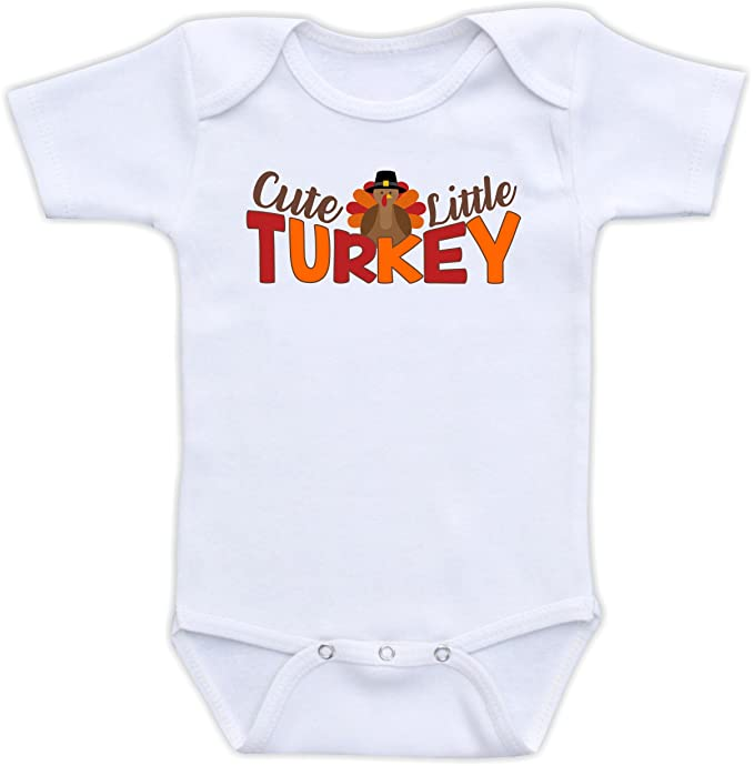 167e0edbbf4 Cute Little Turkey - Thanksgiving Outfit Baby Bodysuit Gender Neutral Baby  Clothes Baby Boy or Girl