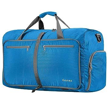 Bleu Gonex Sac de Voyage /à Roulette Valise 65cm 70L Moyennde Bagage de Voyage D/éplacement