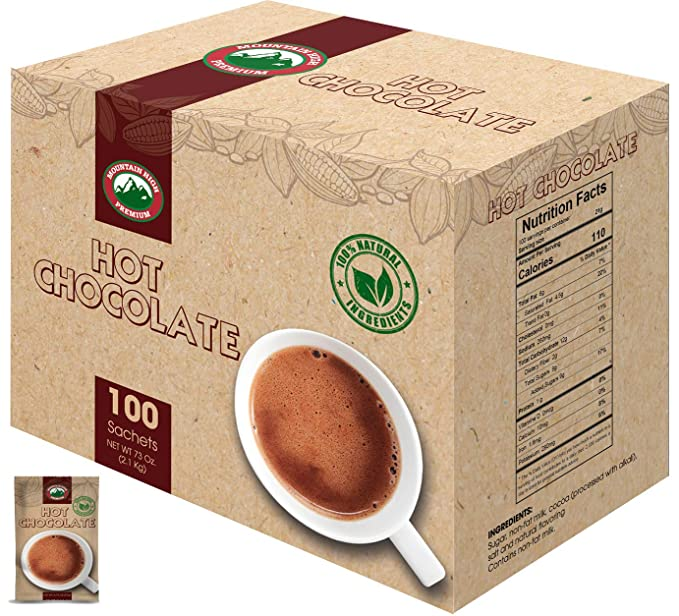 Mountain High Sobres de chocolate caliente natural: Amazon ...