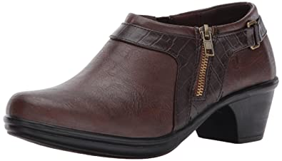 Easy Street Women's Devo Ankle Bootie, Tan/Brown Crocodile, ...