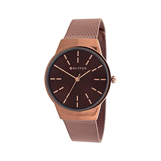 Reloj Bilyfer para Mujer con Correa en Bronce y Pantalla en Marron 3P568-M: Amazon.es: Relojes