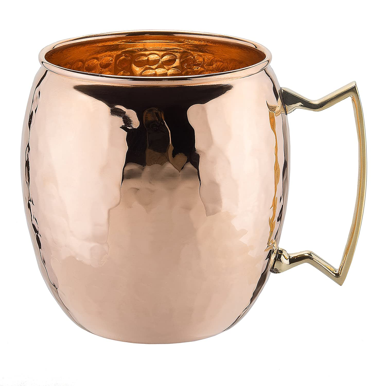 STREET CRAFT Set of 4 100/% Authentic Hammered Copper Wine Goblet Hammered Copper Moscow Mule Copper Mug Cup Capacity 16 Oz