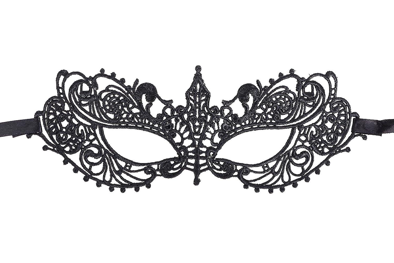 AbbyLexi Women s Pretty Lace Masquerade Halloween Party Eye Mask ... 852b08292e7d