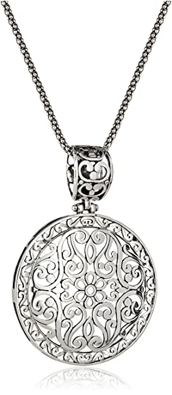 Amazon sterling silver bali inspired filigree pendant necklace amazon sterling silver bali inspired filigree pendant necklace 18 amazon necklace jewelry aloadofball Image collections