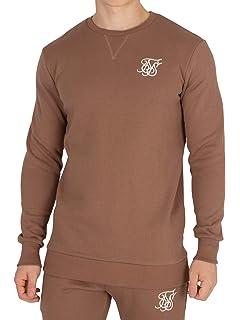Silk Shirt À Homme Marron Sik Logo Sweat Snwqxvwaz