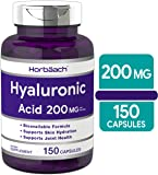 Horbaach Hyaluronic Acid 200 mg 150 Capsules | Supports Joint and Skin Hydration | Non-GMO & Gluten Free Supplement
