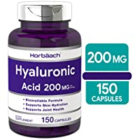 Hyaluronic Acid Capsules 200 mg 150 Count   Supports Joint and Skin Hydration  ...