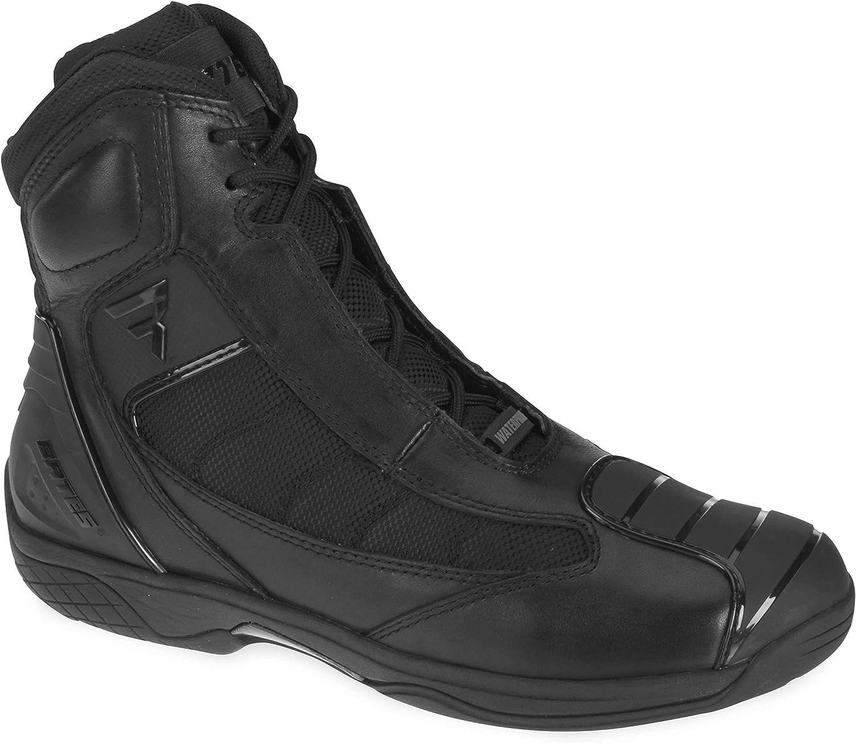 Black, Size 9 Bates Beltline Performance Mens Motorcycle Boots