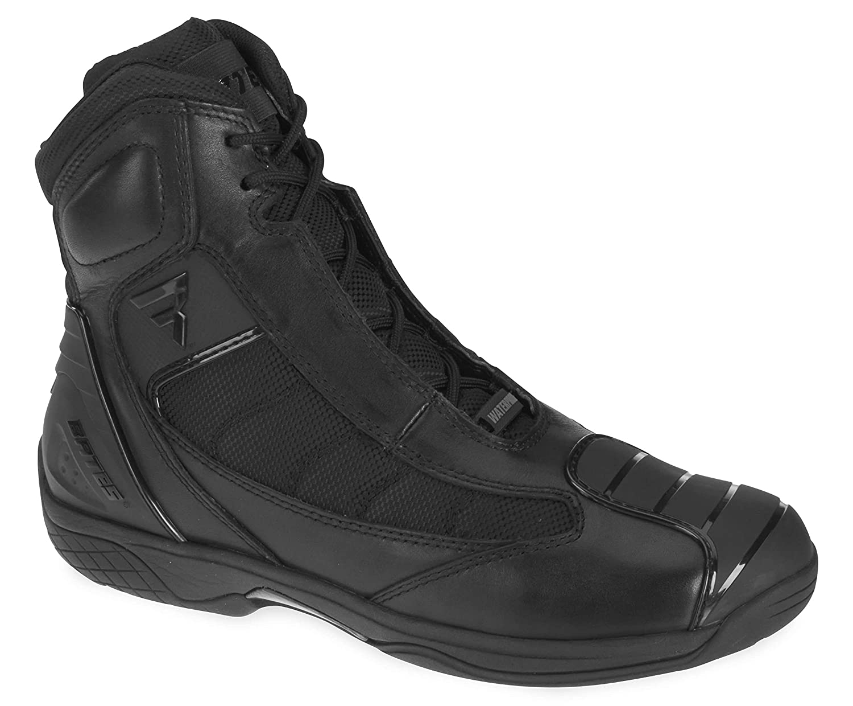 Black, Size 10 Bates Beltline Performance Mens Motorcycle Boots