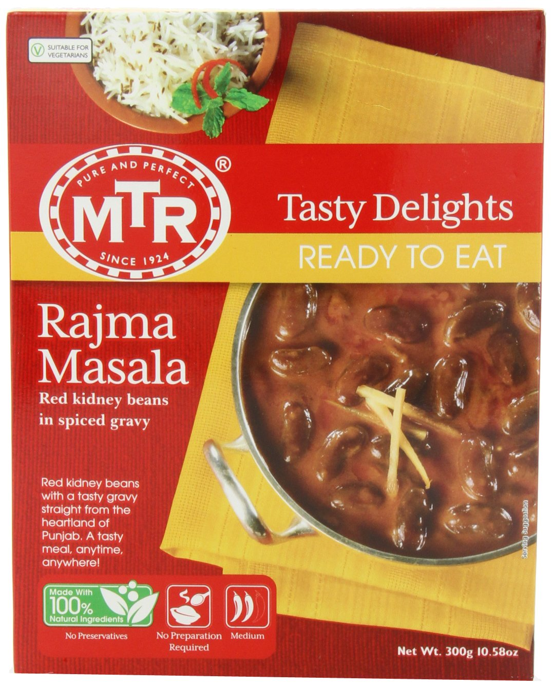 MTR Rajma Masala, 10.58-Ounce Boxes (Pack of 10)