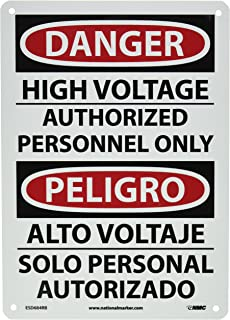 Nmc c525ab osha sign with graphic caution hot surface do not touch nmc esd684rb bilingual osha sign legend danger high voltage authorized personnel only publicscrutiny Images