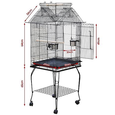 Beyondfashion grande Pet Pájaros Budgie Canario Aviary Loro Jaula ...