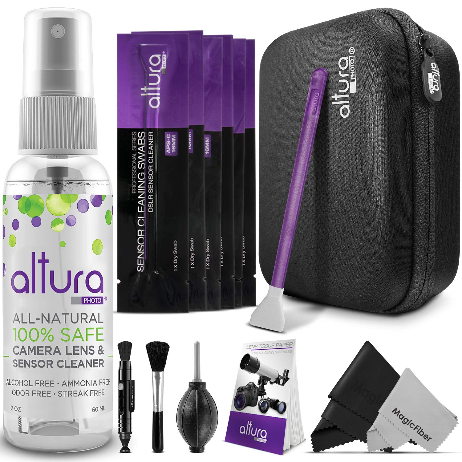 Altura Photo Professional Cleaning Kit APS-C DSLR Cameras Sensor Cleaning Swabs Carry Case QM0855