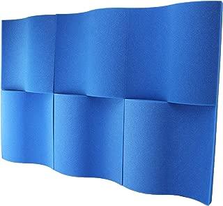 "product image for Foamily 6 Pack - Blue Decorative Acoustic Panels Studio Foam Waves 2"" X 12"" X 12"""