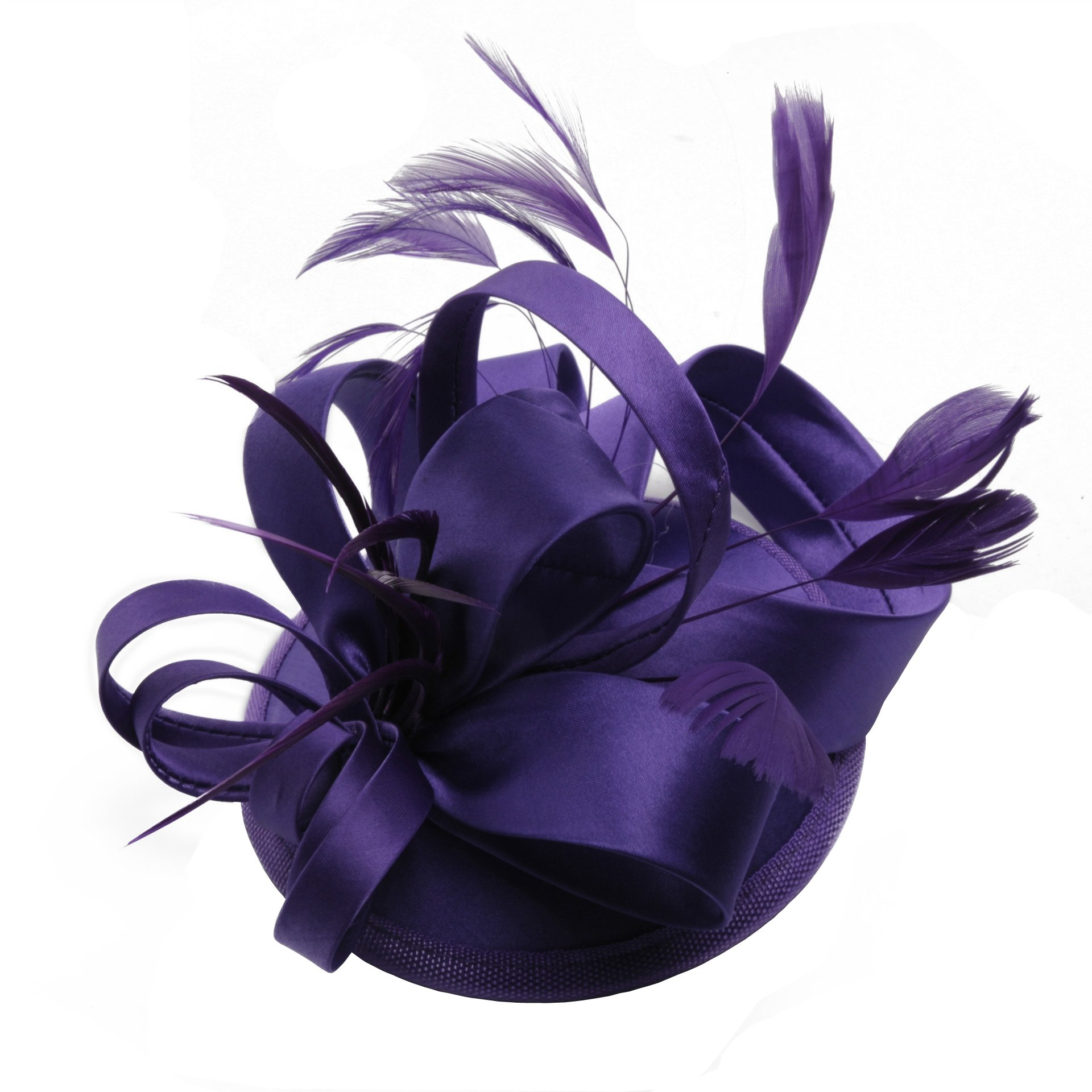 ZYLLGF Fascinators Headband Cocktail Tea Party Headwear for Women Wedding Accessory (Purple)