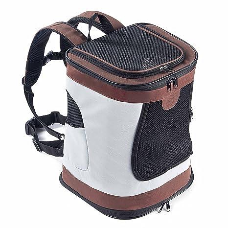 Transportín Plegable Mochila de viaje para perros y gatos Portador para mascotas con lados suaves,