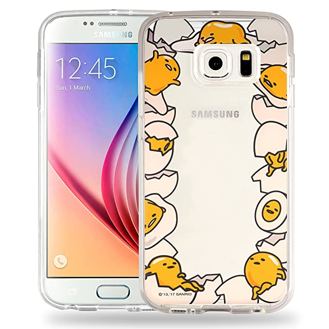wholesale dealer a148f 6e43e Galaxy S8 Case Gudetama Cute Border Clear Jelly Cover for Samsung Galaxy S8  (5.8inch) - Border Gudetama