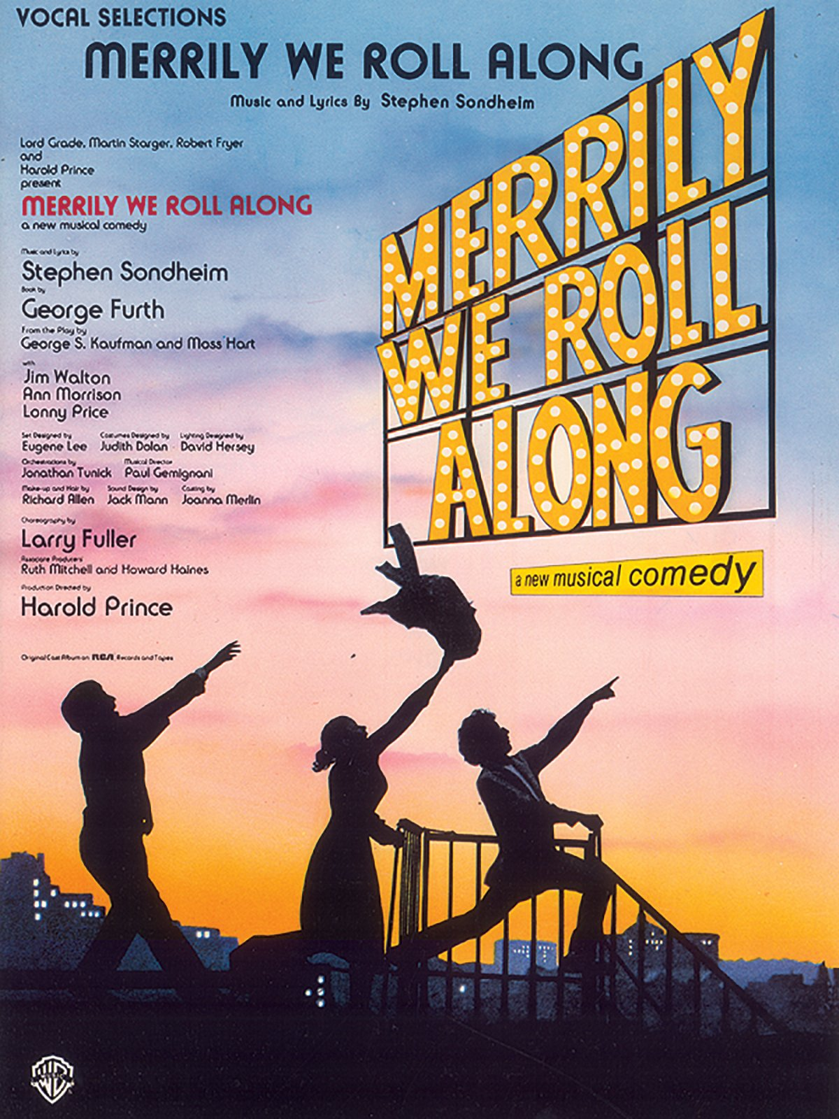 Merrily We Roll Along (Vocal Selections): Piano/Vocal: Stephen Sondheim:  0029156913323: Amazon.com: Books