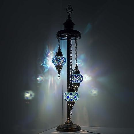Lámpara de pie Globo Mosaic turca, estilo marroquí Superbe ...