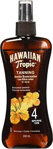 Hawaiian Tropic Y0073056C6CSS2 Aceite Spray FPS4+, 240ml
