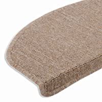 casa pura Hochwertige Stufenmatten | Attraktiver Stufenschutz für Ihre Treppe | Matten für rutschsichere Treppenaufgänge | Grau