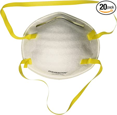 Particulate Mask Of pack N95 Valves Gerson Without Disposable Respirator 20 Surgical