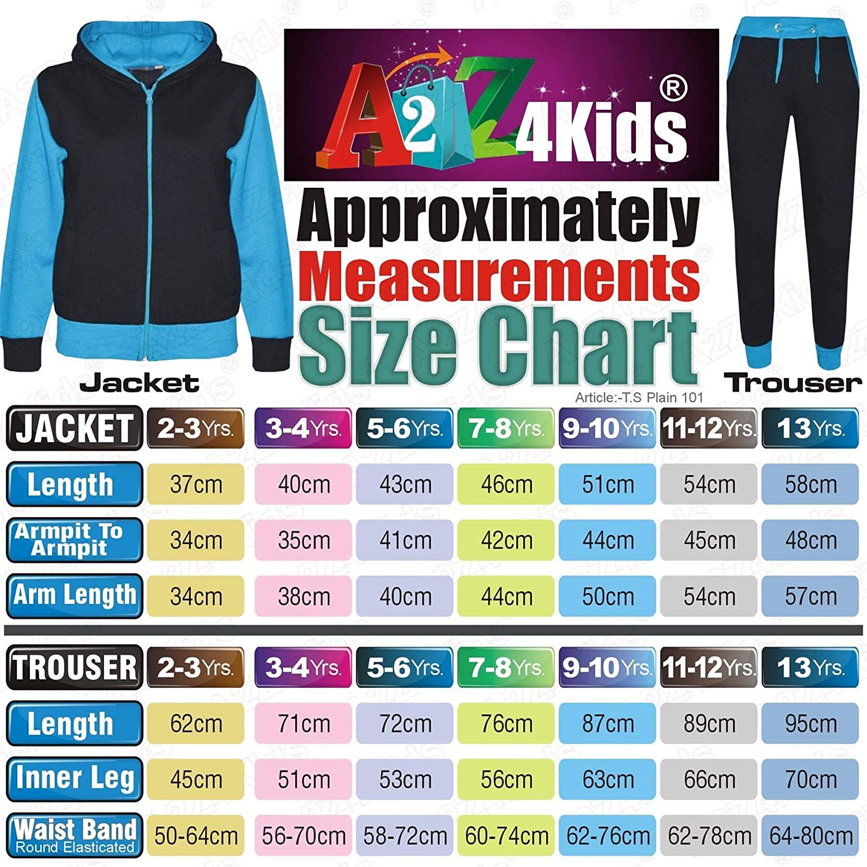 A2Z 4 Kids/® Kids Girls Tracksuit Designer Plain Neon Pink Contrast Fleece Hooded Top Bottom Jogging Suit Joggers New Age 2 3 4 5 6 7 8 9 10 11 12 13 Years