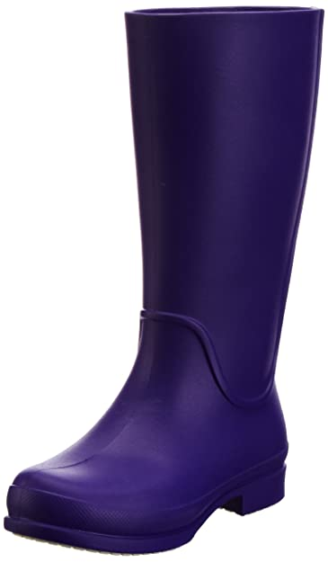crocs Wellie Rain Boot, Damen Gummistiefel, Braun (Espresso/Forest Green), 37/38 EU