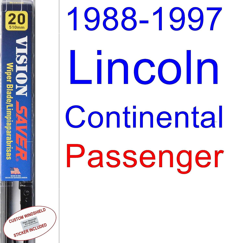 Amazon.com: 1988-1997 Lincoln Continental Wiper Blade (Passenger) (Saver Automotive Products-Vision Saver) (1989,1990,1991,1992,1993,1994,1995,1996): ...