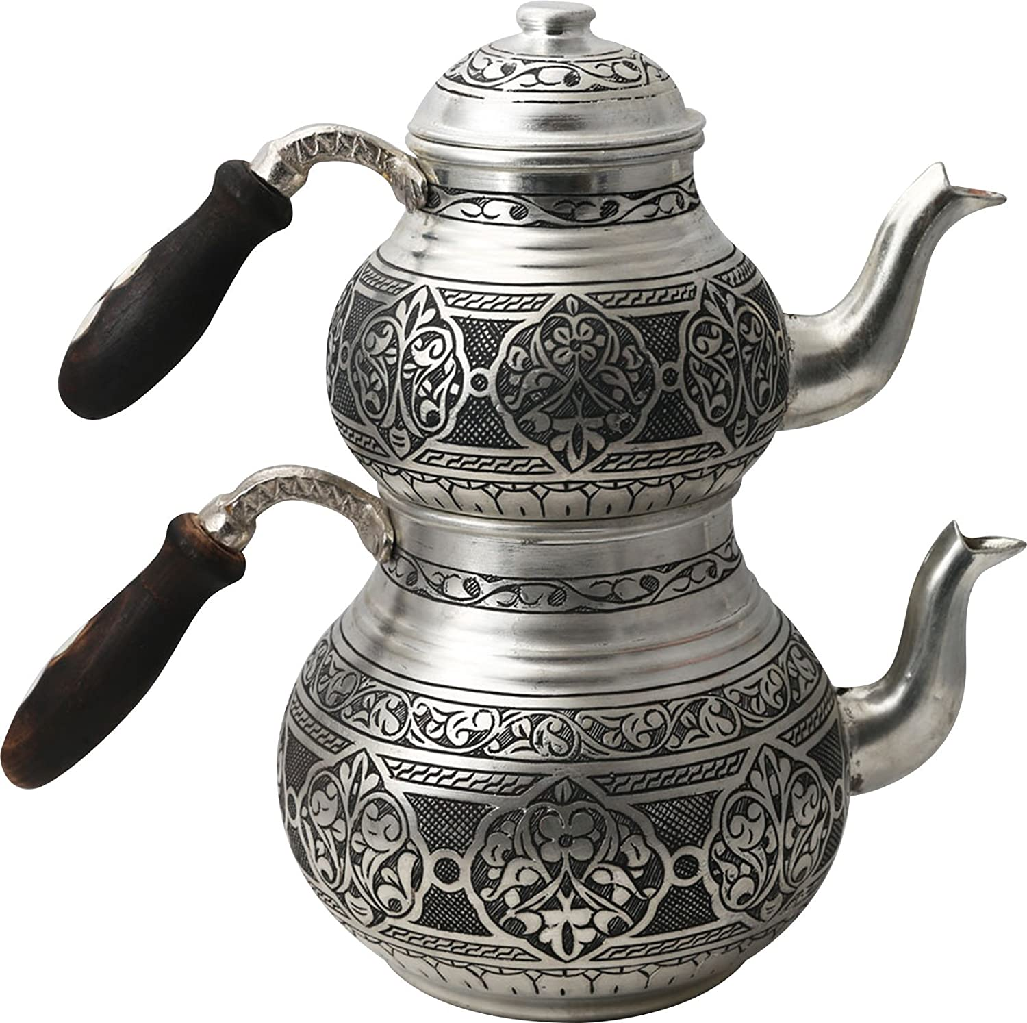 Handcrafted Copper Turkish Tea Pot Set, Tea Maker, Samovar, Ottoman Antique Handmade Tea Pot Kettle, Traditional Turkish Black Tea Maker-(TP-107)
