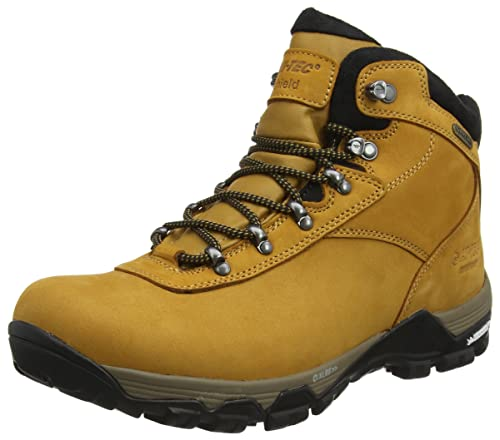 Hi-Tec Mens Altitude Ox I Waterproof Outdoor Lace Up Ankle Boot Wheat/Black