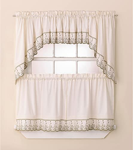 Lush Decor Ashlyn Valance with Lining