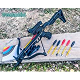 Isaazon 80lbs Self Cocking Aligator Crossbow 225+ FPS + Red Dot Scope + Broad Heads Arrows Bow Package