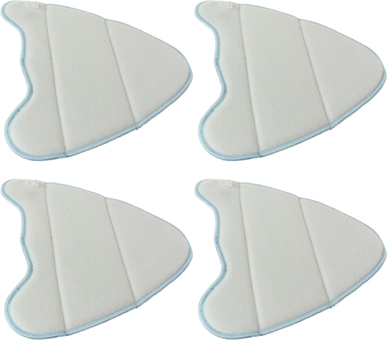 Pack de 4 mopas Spares2go Almohadillas de limpieza de microfibra para limpiador a vapor Abode ADSM4001