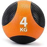 Zelus メディシンボール ソフトウエイトボール 筋トレ 運動 筋肉 フィットネス 4KG&オレンジ
