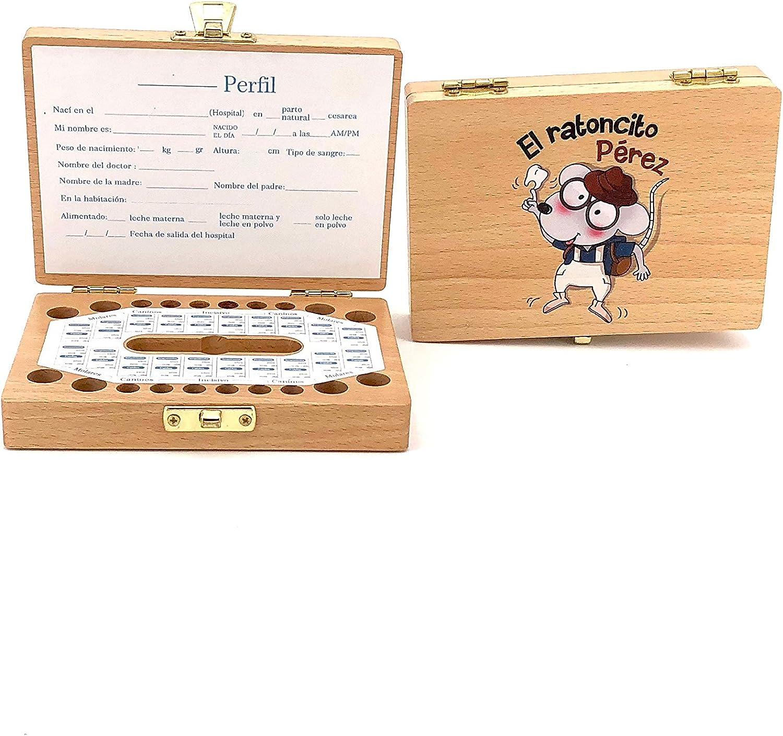 Caja de madera para guardar los dientes de leche