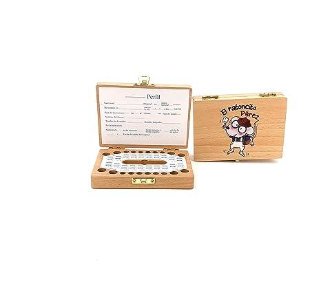 Caja de madera para guardar los dientes de leche \